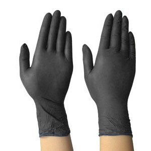 Nitrile Gloves Large - Black Heavy Duty